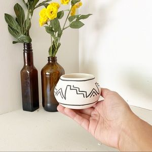 Vintage 1980s pottery New Mexico small bowl